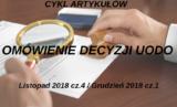 Omówienie decyzji UODO – listopad 2018 r. – część 4/ grudzień 2018 r. – część 1