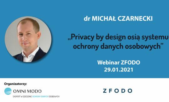 Wystąpienie dr Michała Czarneckiego na konferencji ZFODO